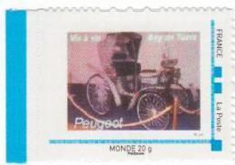 Doubs  -  Sochaux    - Peugeot  Vis à Vis - Gepersonaliseerde Postzegels (MonTimbraMoi)