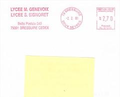 Empreinte De Machine A Affranchir-02/02/2001-Simone Signoret - Cinema