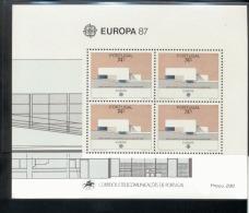 CEPT Portugal Block 54 Moderne Architektur  Postfrisch ** - 1987