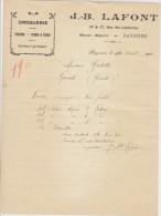 Landes, Bayonne, Droguerie JB Lafont 1923 - Chemist's (drugstore) & Perfumery