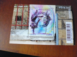OBLITERATION RONDE  SUR TIMBRE GOMME ORIGINE YVERT N° 4905...bloc Fete Du Timbre - Used Stamps