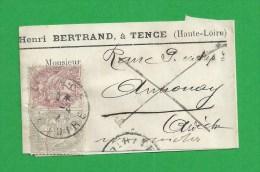 Bande De Journal Type Blanc N° 108 + 107 De TENCE - 1900-29 Blanc