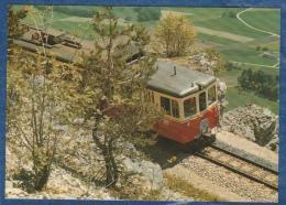Yverdon Ste-Croix - Ancienne Be 4/4 Au Dessus Des Rapilles Avec Vue Sur La Plaine - Railway - Bahn - Trains - Trains