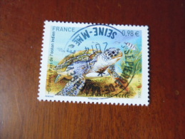 OBLITERATION RONDE  SUR TIMBRE GOMME ORIGINE YVERT N° 4903...tortue Verte - Used Stamps