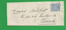 Lettre De PARIS Sage N° 78 - Storia Postale