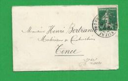 MIGNONETTE SEMEUSE De BEAUX MALATAVERNE HAUTE LOIRE - Storia Postale