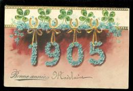 Année - Millèmme - Jaartal - Jaar - Carte Gaufrée - Reliëf - 1905 - Nouvel An