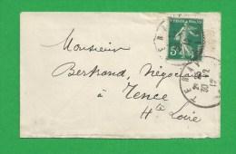 MIGNONETTE SEMEUSE De TENAY - Storia Postale