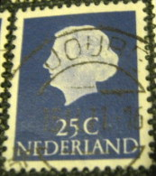 Netherlands 1953 Queen Juliana 25c - Used - Periodo 1949 - 1980 (Giuliana)