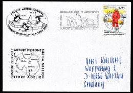 """ANTARCTIC, TAAF, D´URVILLE, FLAMME  1.1.2004, 2 Cachets """"MESURE D'OZONE"""" , Look Scan !! 17.2-11 - Antarctische Expedities"""
