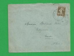 SEMEUSE 193 Obl Haute Loire  1926 - Storia Postale