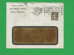 SEMEUSE 193 Obl Lyon - Storia Postale