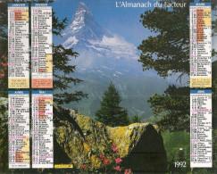 1992 CALENDRIER DES PTT  -  MAINE ET LOIRE - Calendriers