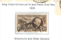 Albania 1939 PA King Vitt.Em.III° .Used Scott.C46 See Scan - Albania