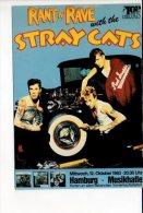 """Spectacle - Musique - Affiche De Concert Des """"Stray Cats """" à Hamburg - Music And Musicians"""