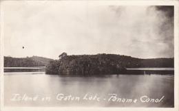 Panama Island In Gaton Lake Panama Canal Real Photo