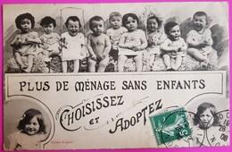 Cpa Bergeret Nancy Plus De Ménage Sans Enfants 1908 Carte Postale Adoption Bébé - Bergeret