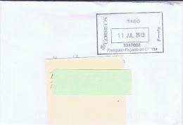E+ Spanien 2013 Mi Xx Stempel Tineo (Kuvert) - 1931-Heute: 2. Rep. - ... Juan Carlos I