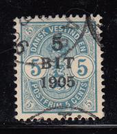 Danish West Indies Used Scott #41 5b On 5c Arms - Danemark (Antilles)
