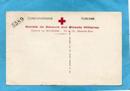 Guerre 14-18-sté De Secours Aux Bléssés -cté Croix Rouge De Mayenne-cpa -MAYENNE- Loterie Numérotée - Guerra 1914-18