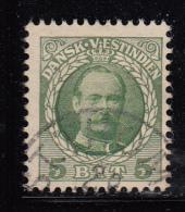 Danish West Indies Used Scott #43 5b Frederik VIII - Danemark (Antilles)