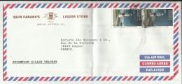 ANTIGUA & BARBUDA , Lettre Avec 2 Timbres , De Quin Farara's Liquor Store Pour La Société JAMES HENNESSY & C° , 2000 - Antigua Et Barbuda (1981-...)