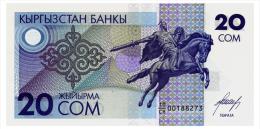 KYRGYZSTAN 20 SOM ND(1993) Pick 6 Unc - Kyrgyzstan