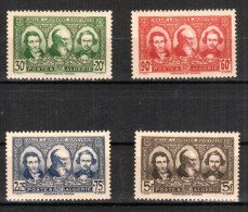 Algérie 1939  Pioniers Du Sahara - 4v  , Yvert#149/52  , Scott# B28/31  - Série - Neufs Sans Charnieres ** - Algérie (1924-1962)