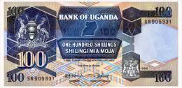 UGANDA 100 SHILLINGS 1988 Pick 31b Unc - Uganda