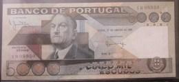 "5.000 ESCUDOS  27/1/1981  "" ANTONIO SERGIO ""  UNC - Portugal"
