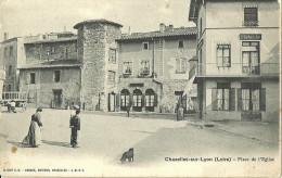 Chazelles Sur Lyon Place De L Eglise - Sonstige Gemeinden