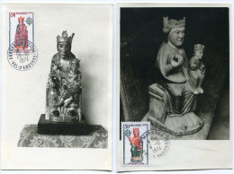 ANDORRE CARTE MAXIMUM DES N°237/238 EUROPA  OBLITERATION  ANDORRE LA VIEILLE 28-10-1974 ET LA MASSANA 4-12-1974 - Cartes-Maximum (CM)
