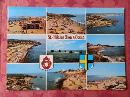 Dep 85 , Cpm Saint HILAIRE De RIEZ  , SION Sur L'OCEAN , Multivues , V.623  (071) - Saint Hilaire De Riez