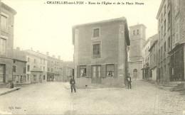 Chazelles Sur Lyon Rues De L Eglise Et De La Place Neuve - Sonstige Gemeinden