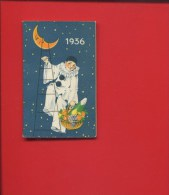 PIERROT GOURMAND IVRY SUR SEINE  CHOCOLATIER CONFISEUR  LUNE PANIER FRUITS SUCRE CALENDRIER ALMANACH POCHE 1936 - Calendarios