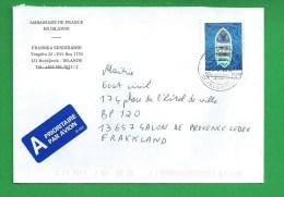 LETTRE Ambassade De France En Islande - Gebraucht