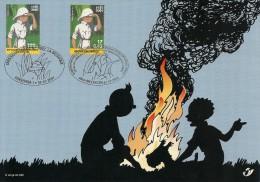 Carte-souvenir De L´Emission Commune Avec Le Congo Kinshasa - COB N° 3048HK - 70ème Anniversaire De Tintin Au Congo - Souvenir Cards