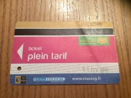 Ticket de Bus r�seau Penn-ar-Bed (ticket plein tarif) 2015