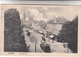 AK Krefeld, Crefeld Rheinstrasse, Strassenbahn, Tramways (pk15972) - Krefeld