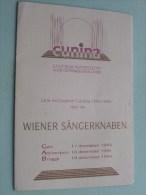 CUNINA Concerten 1994 Met De WIENER SÄNGERKNABEN ( Voir Photo Pour Detail )! - Programma's