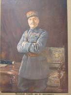 MARECHAL FOCH DE R. DESVAREUX  -MILITARIA->Reproduction Gravure Personnage Historique PORTANT MEDAILLE HONORIFIQUE - Militaria