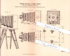 Original Patent - T. Samuels In Monken Hadley , Barnet , England , 1884 , Camera , London !!! - Appareils Photo