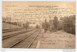 LIBRAMONT ..-- TRAIN . Entrée En GARE . 1905 Vers NEUFCHATEAU ( Mme Justine LAURENT ) . Voir Verso . - Libramont-Chevigny