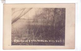 54 Puvenelle Colline 323 Capturee 34 Th Infantry Us Army Graves Tombes Cimetiere  Guerre 14 18 Carte Photo - Guerre 1914-18
