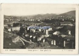 2624 SPAIN ESPAÑA BILBAO VIZCAYA PAIS VASCO VISTA GENERAL CIRCULATED TO URUGUAY POSTAL POSTCARD - España