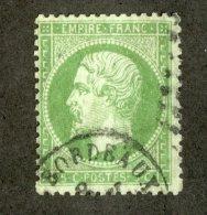 3275  France 1862  Mi.#19  (o)  Scott #23  Offers Welcome! - 1862 Napoleon III
