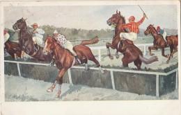 Cpa/pk 1912 Schönpflug Schoenpflug Fritz BKWI Austria AK Horses 2 Jockeys - Schoenpflug, Fritz
