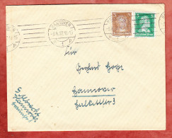 Brief, Goethe + Schiller, MS Band Striche Hannover 1927 (74087) - Deutschland