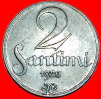 ★ IMITATION OF GOTHIC SCRIPT★ Latvia★ 2 SANTIMES 1928! LOW START★NO RESERVE! - Lettland
