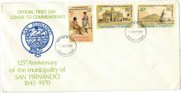 Trinidad & Tobago - 1970 - 125th Anniversary Of San Fernando - FDC - Trindad & Tobago (1962-...)